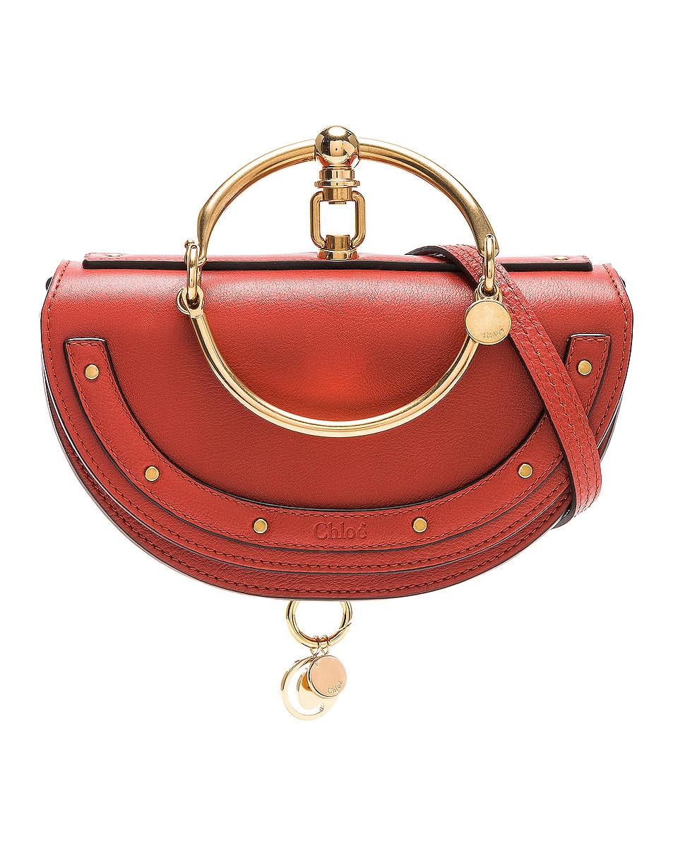 Image 1 of Chloe Small Nile Leather Minaudiere in Earthy Red
