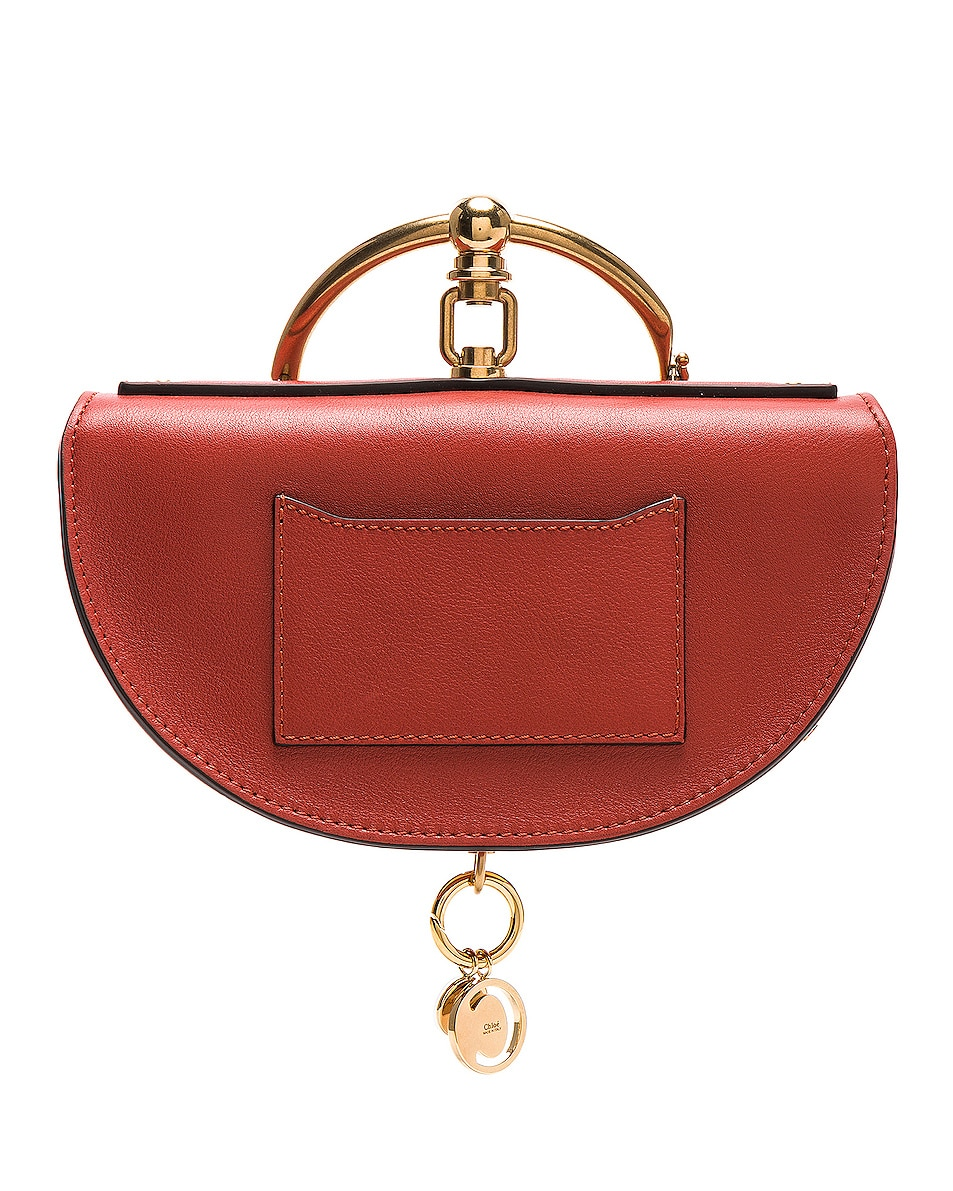 Image 3 of Chloe Small Nile Leather Minaudiere in Earthy Red