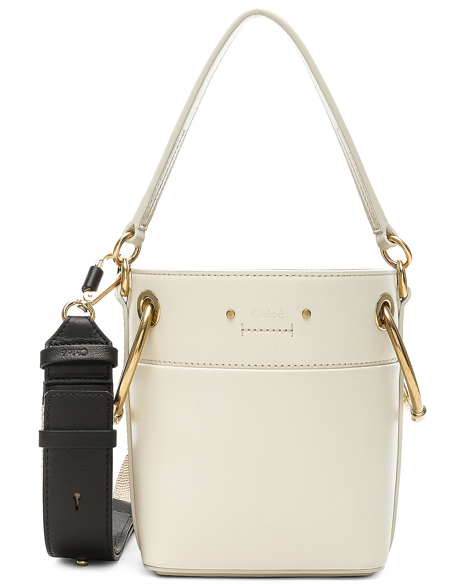 Image 1 of Chloe Mini Roy Calfskin Bucket Bag in Natural White