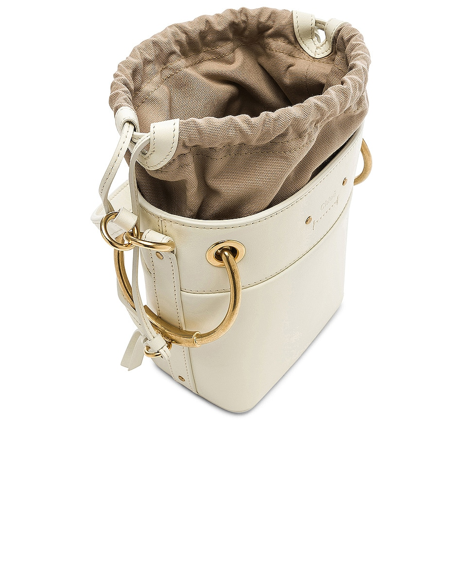 Image 5 of Chloe Mini Roy Calfskin Bucket Bag in Natural White