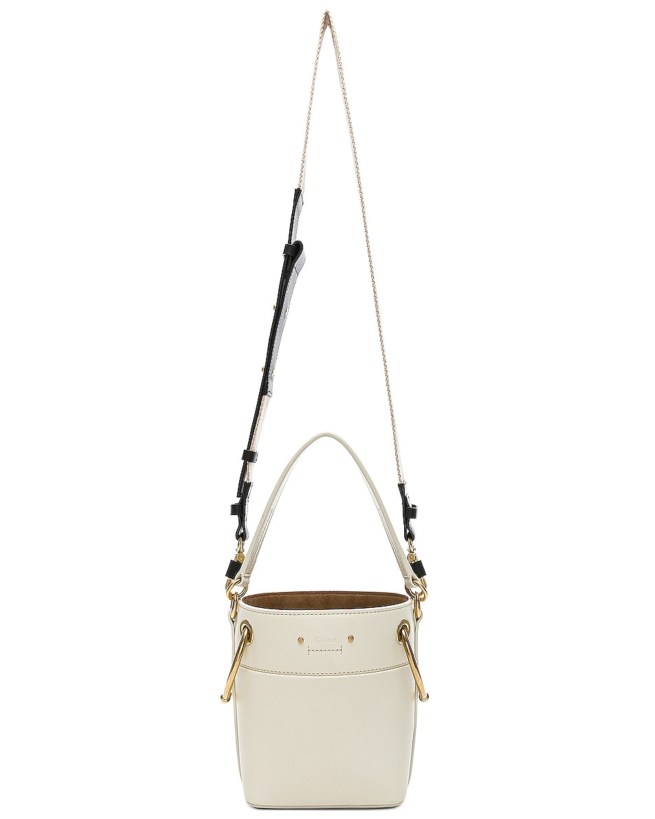 Image 6 of Chloe Mini Roy Calfskin Bucket Bag in Natural White