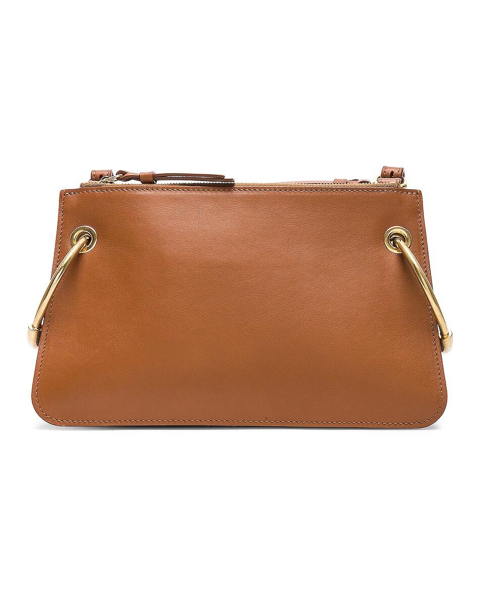 Image 3 of Chloe Mini Roy Calfskin & Suede Shoulder Bag in Caramel