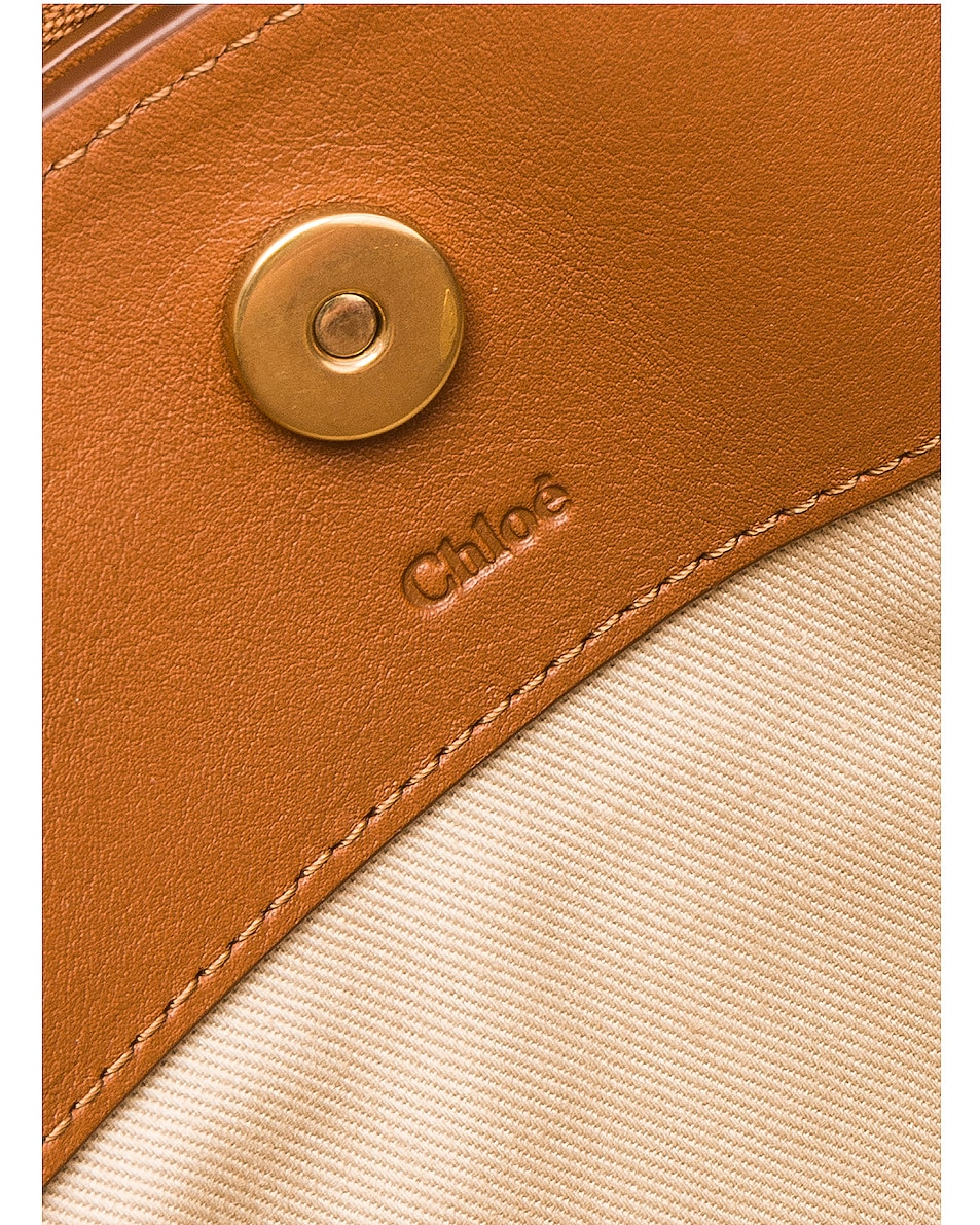 Image 7 of Chloe Mini Roy Calfskin & Suede Shoulder Bag in Caramel