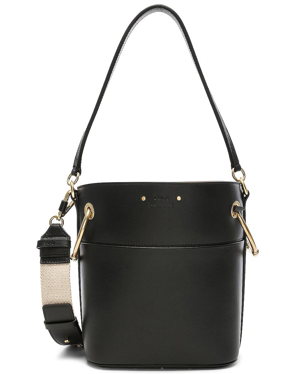 Image 1 of Chloe Small Roy Calfskin Bucket Bag in Black