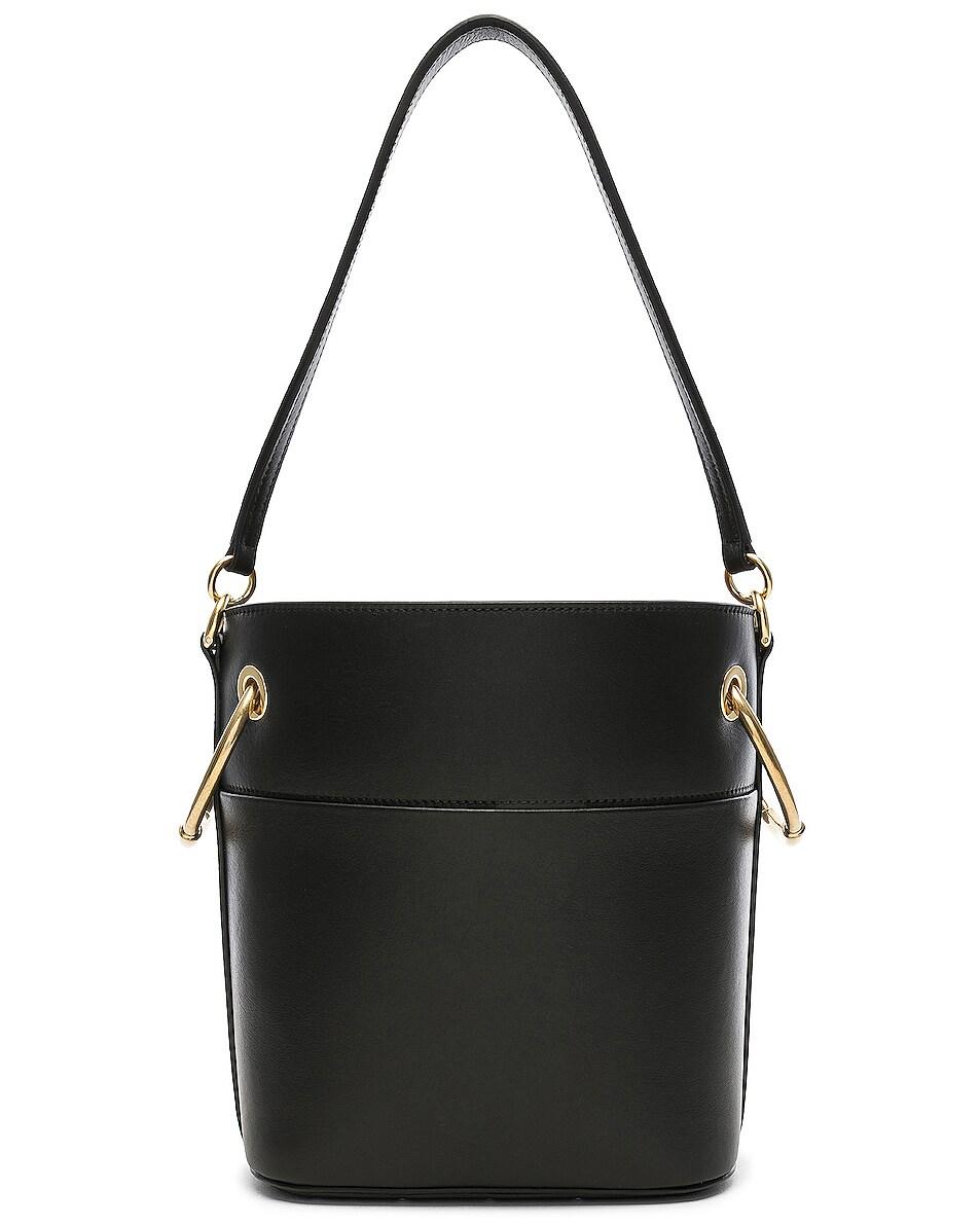 Image 3 of Chloe Small Roy Calfskin Bucket Bag in Black