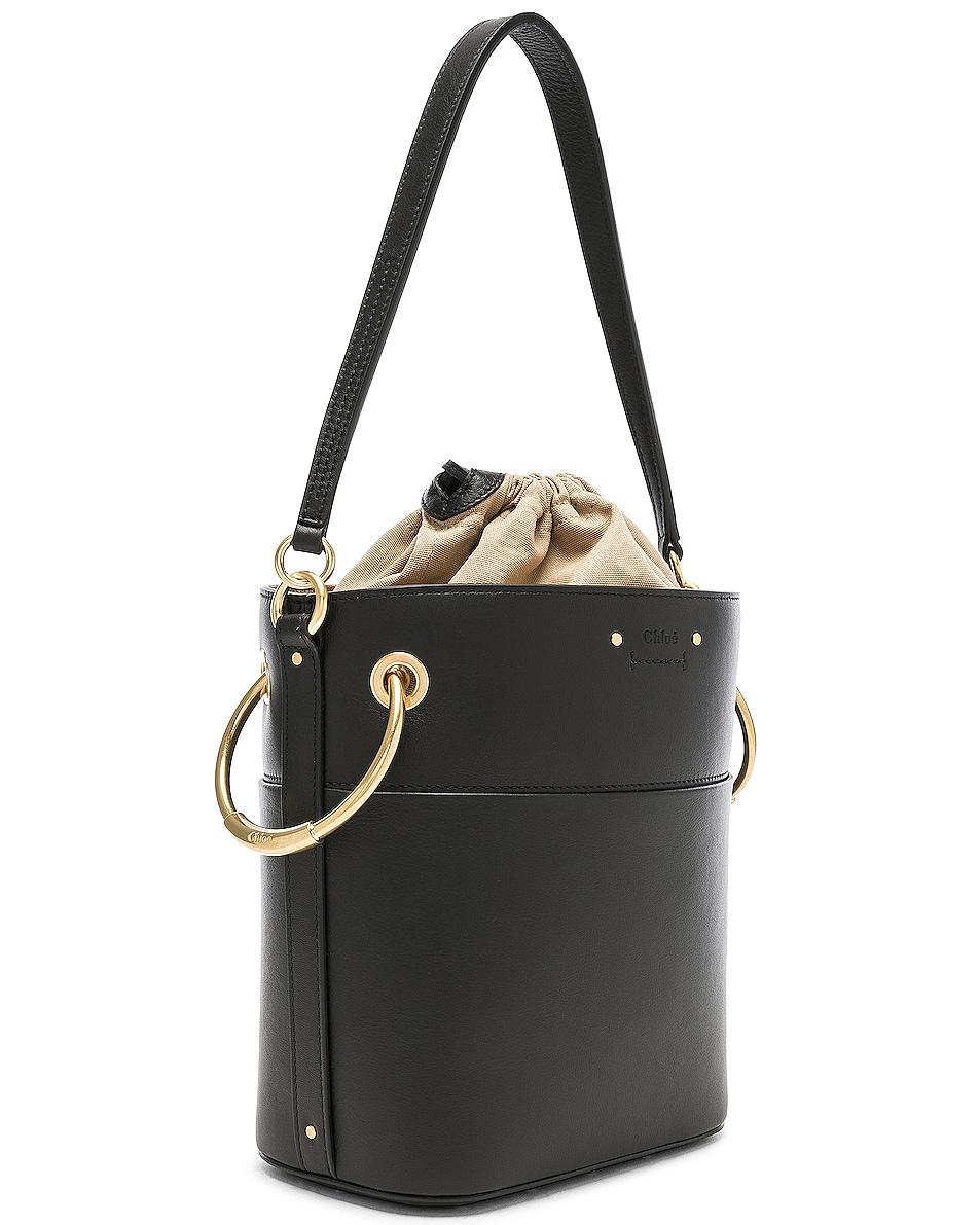 Image 4 of Chloe Small Roy Calfskin Bucket Bag in Black