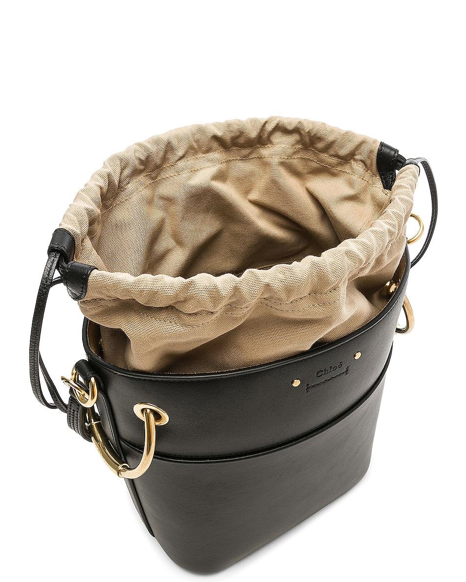 Image 5 of Chloe Small Roy Calfskin Bucket Bag in Black