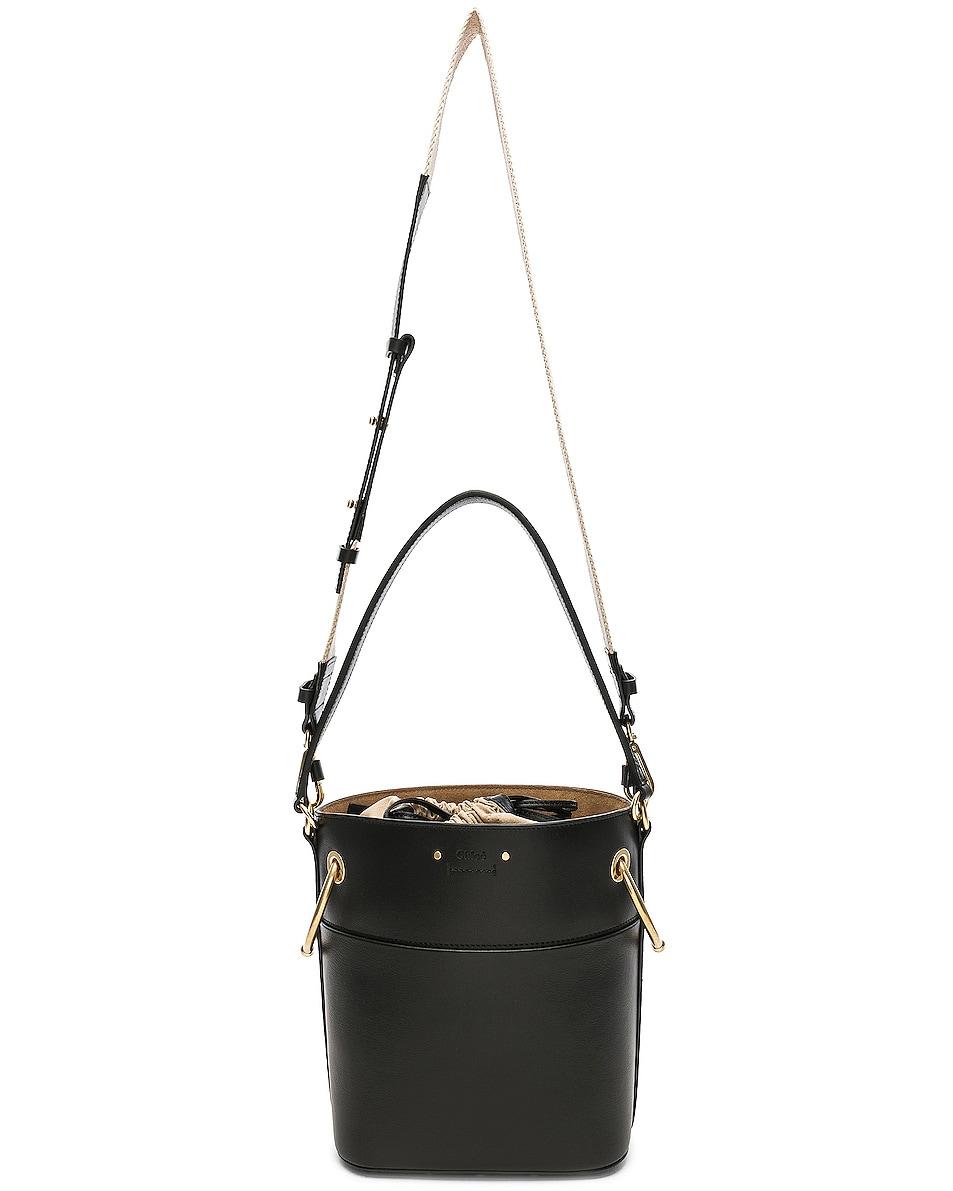 Image 6 of Chloe Small Roy Calfskin Bucket Bag in Black