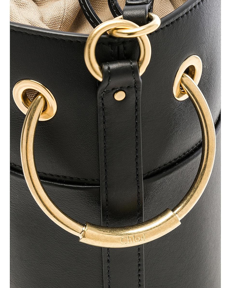 Image 8 of Chloe Small Roy Calfskin Bucket Bag in Black