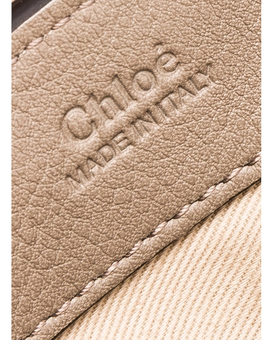 Image 7 of Chloe Mini Faye Calfskin & Suede Day Bag in Motty Grey