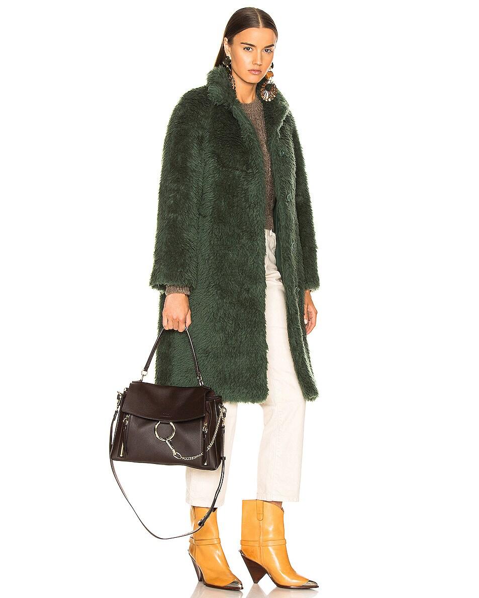 Image 2 of Chloe Medium Faye Calfskin & Suede Day Bag in Carbon Brown