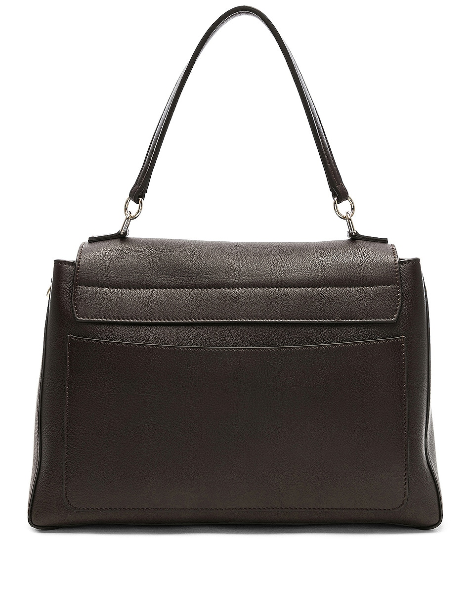 Image 3 of Chloe Medium Faye Calfskin & Suede Day Bag in Carbon Brown