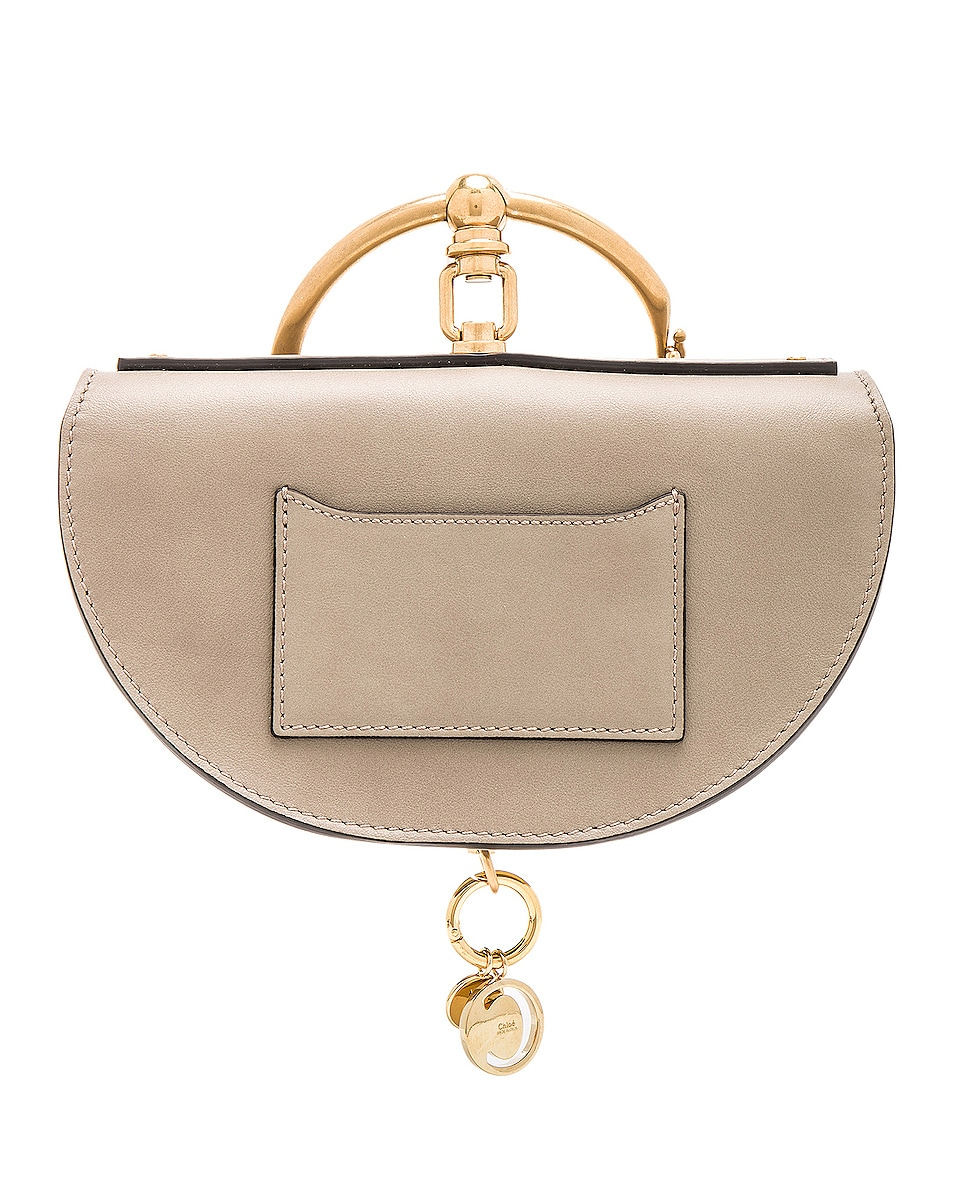 Image 3 of Chloe Small Nile Leather Minaudiere in Motty Grey