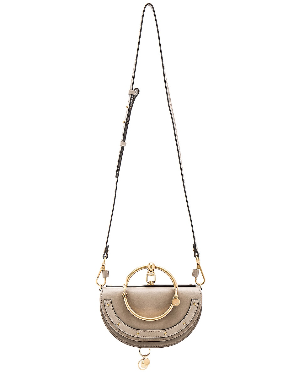 Image 6 of Chloe Small Nile Leather Minaudiere in Motty Grey