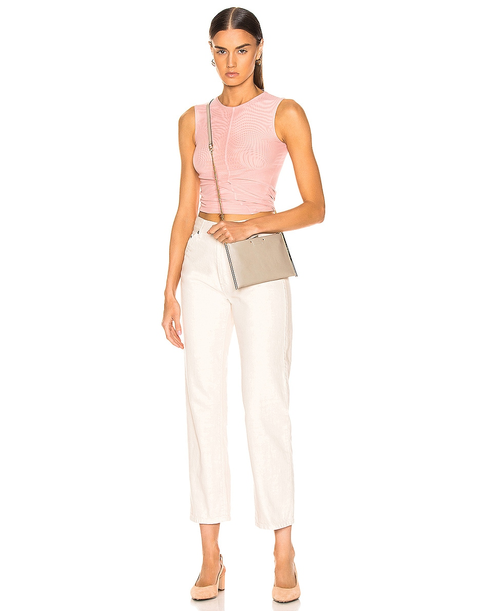 Image 2 of Chloe Roy Smooth Calfskin Clutch in Pastel Grey