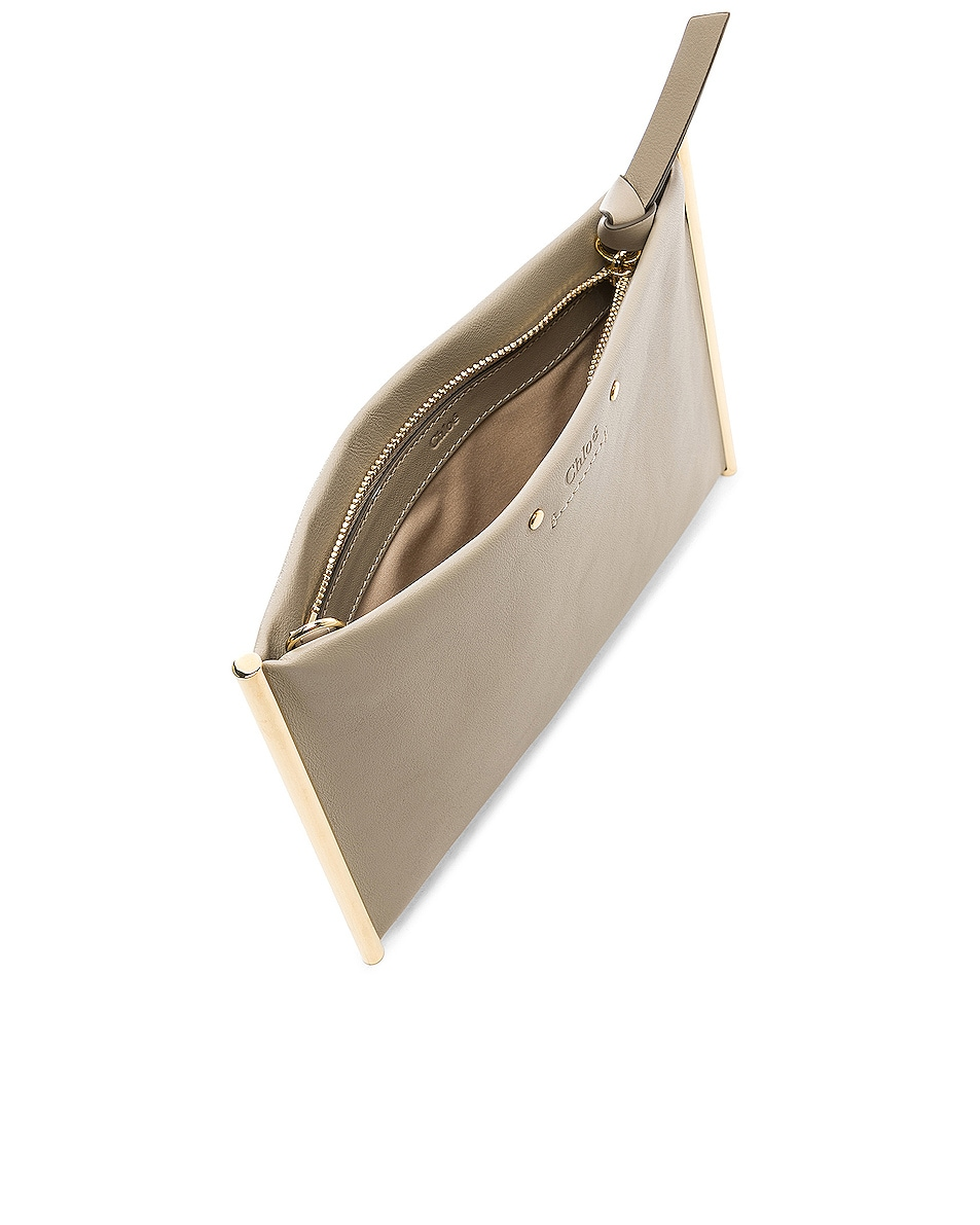 Image 5 of Chloe Roy Smooth Calfskin Clutch in Pastel Grey