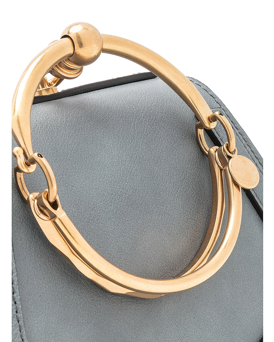 Image 8 of Chloe Small Nile Bracelet Bag Calfskin & Suede in Cloudy Blue