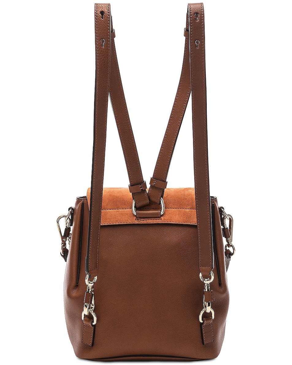 Image 3 of Chloe Small Faye Backpack Calfskin & Suede in Tan