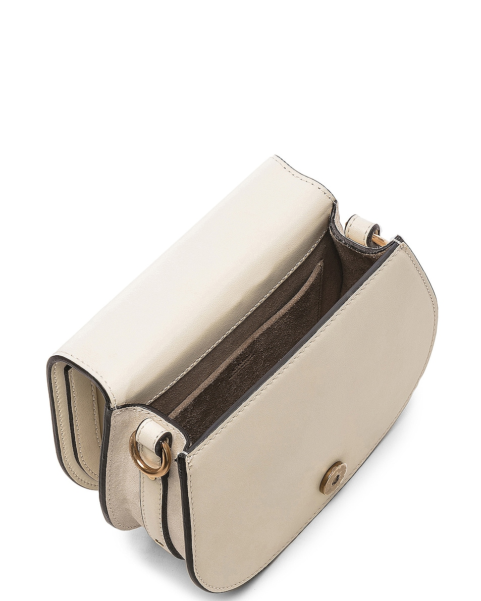 Image 5 of Chloe Small Nile Bracelet Bag Calfskin & Suede in Off White