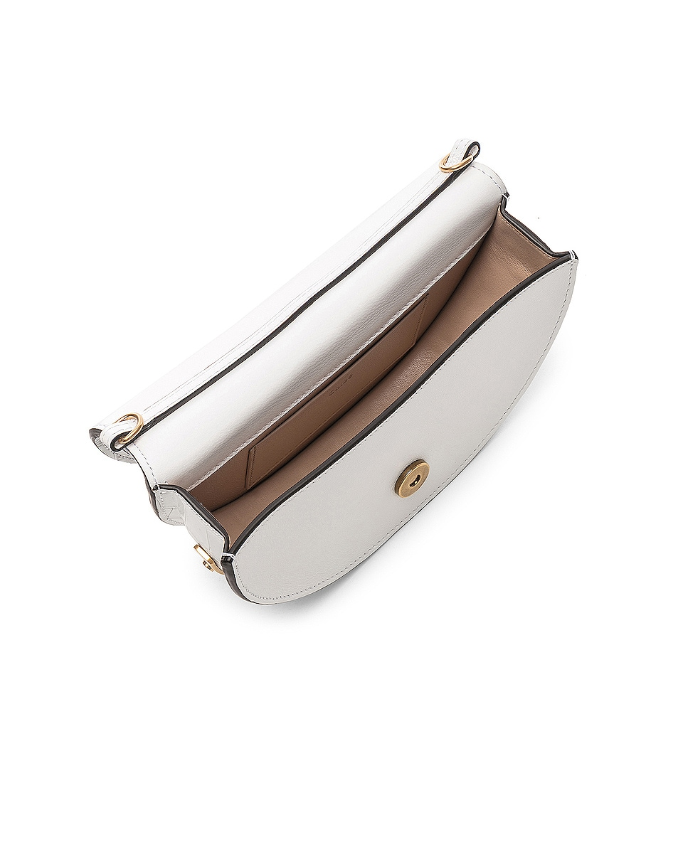 Image 5 of Chloe Small Nile Embossed Minaudiere in Brilliant White