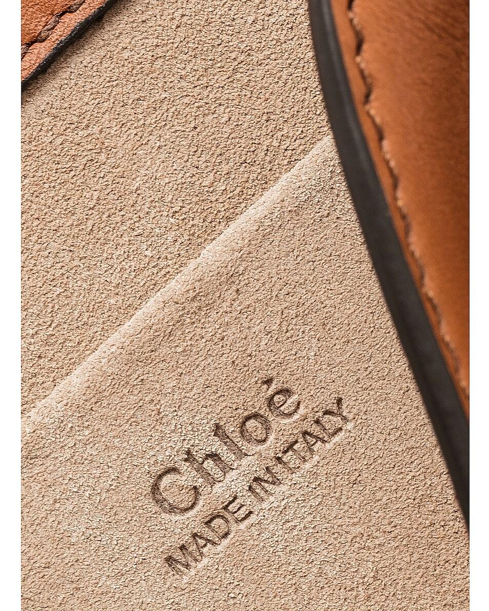 Image 7 of Chloe Nile Small Python Print Bracelet Bag in Caramel