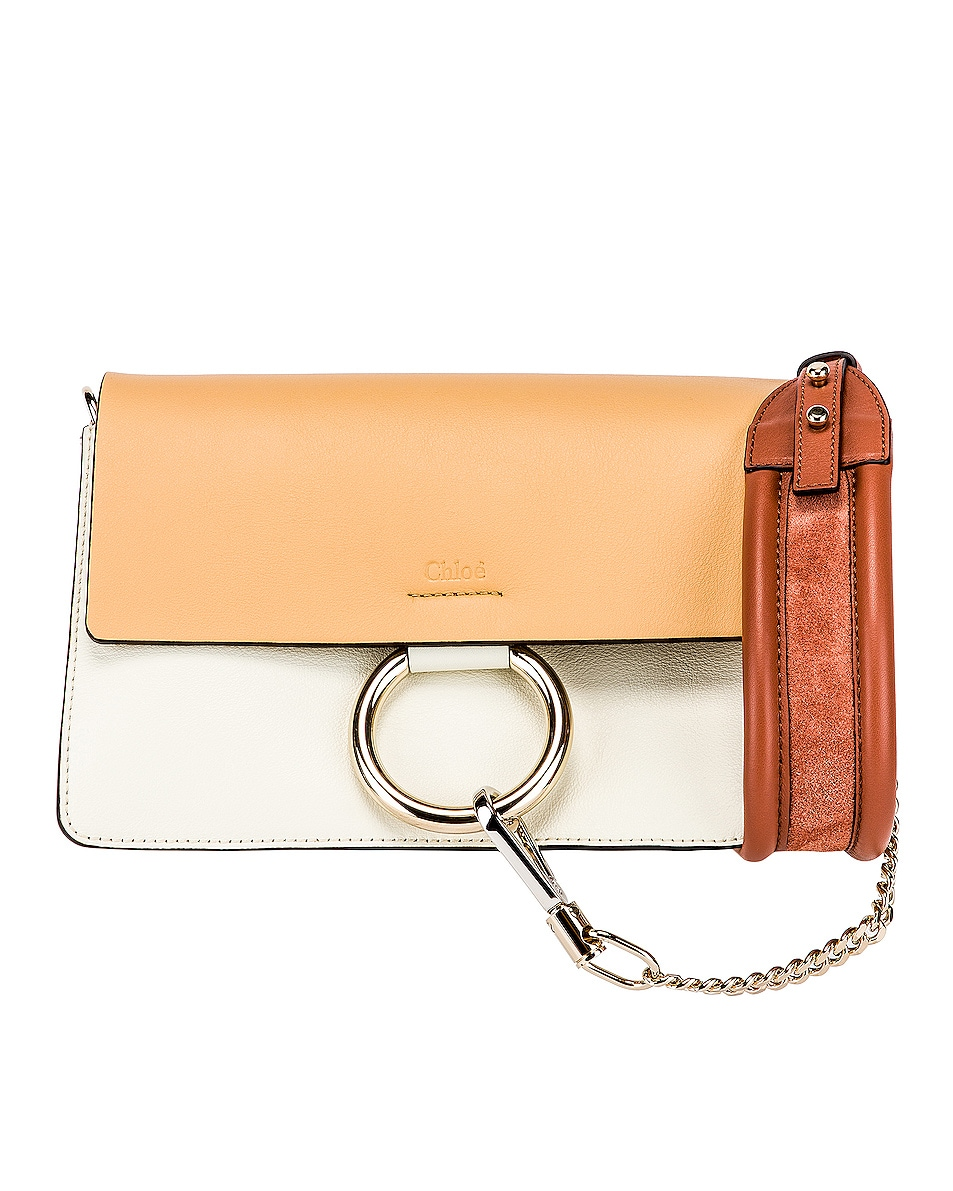 Image 1 of Chloe Small Faye Bag in Brown & White