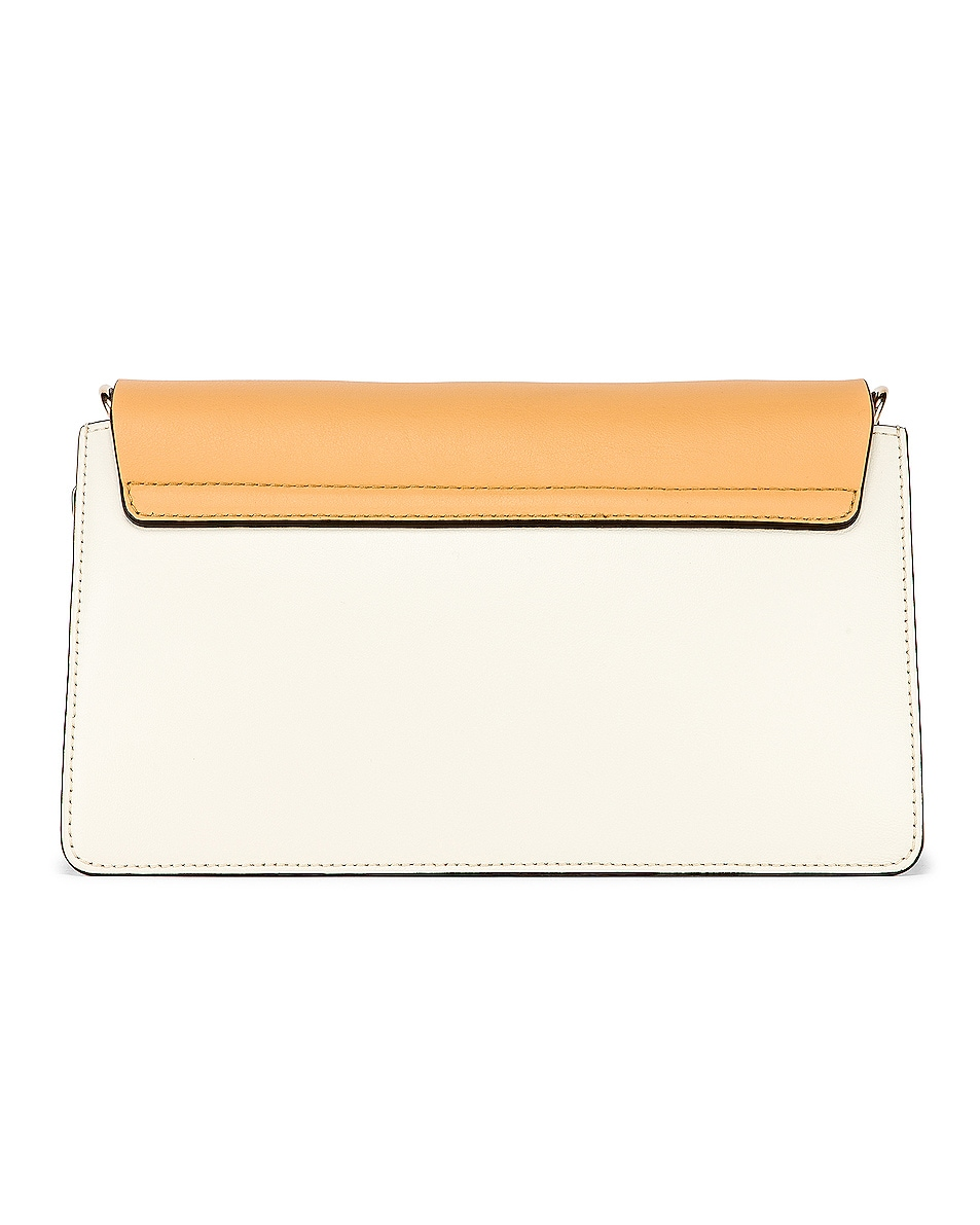 Image 3 of Chloe Small Faye Bag in Brown & White