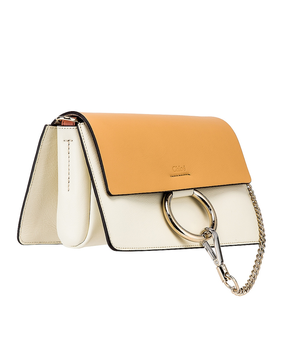 Image 4 of Chloe Small Faye Bag in Brown & White