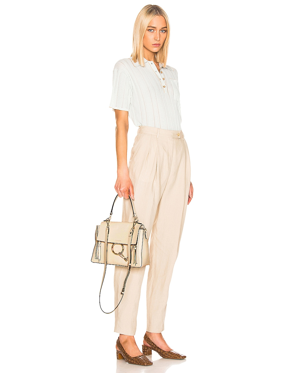 Image 2 of Chloe Small Faye Calfskin & Suede Day Bag in Off White