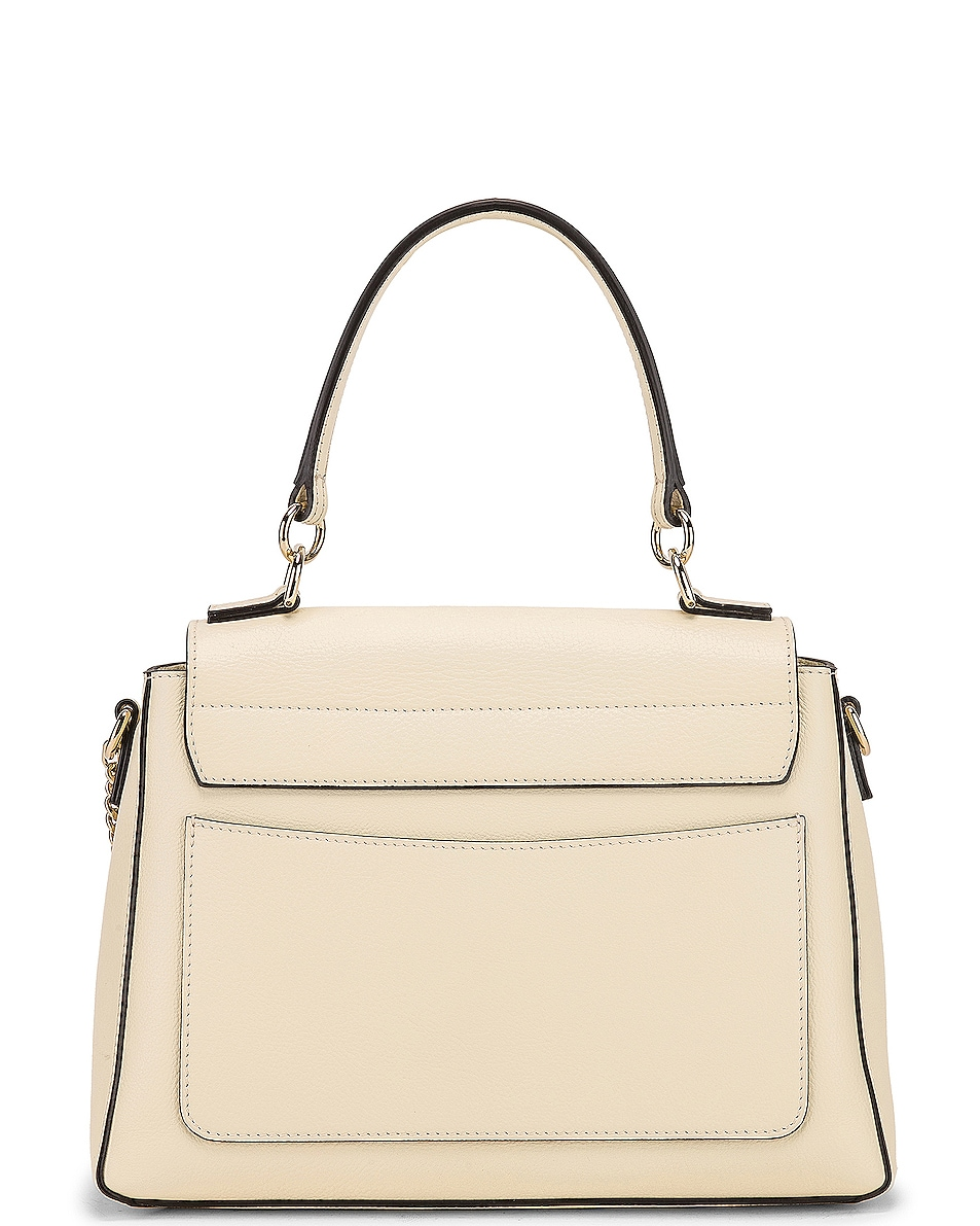 Image 3 of Chloe Small Faye Calfskin & Suede Day Bag in Off White