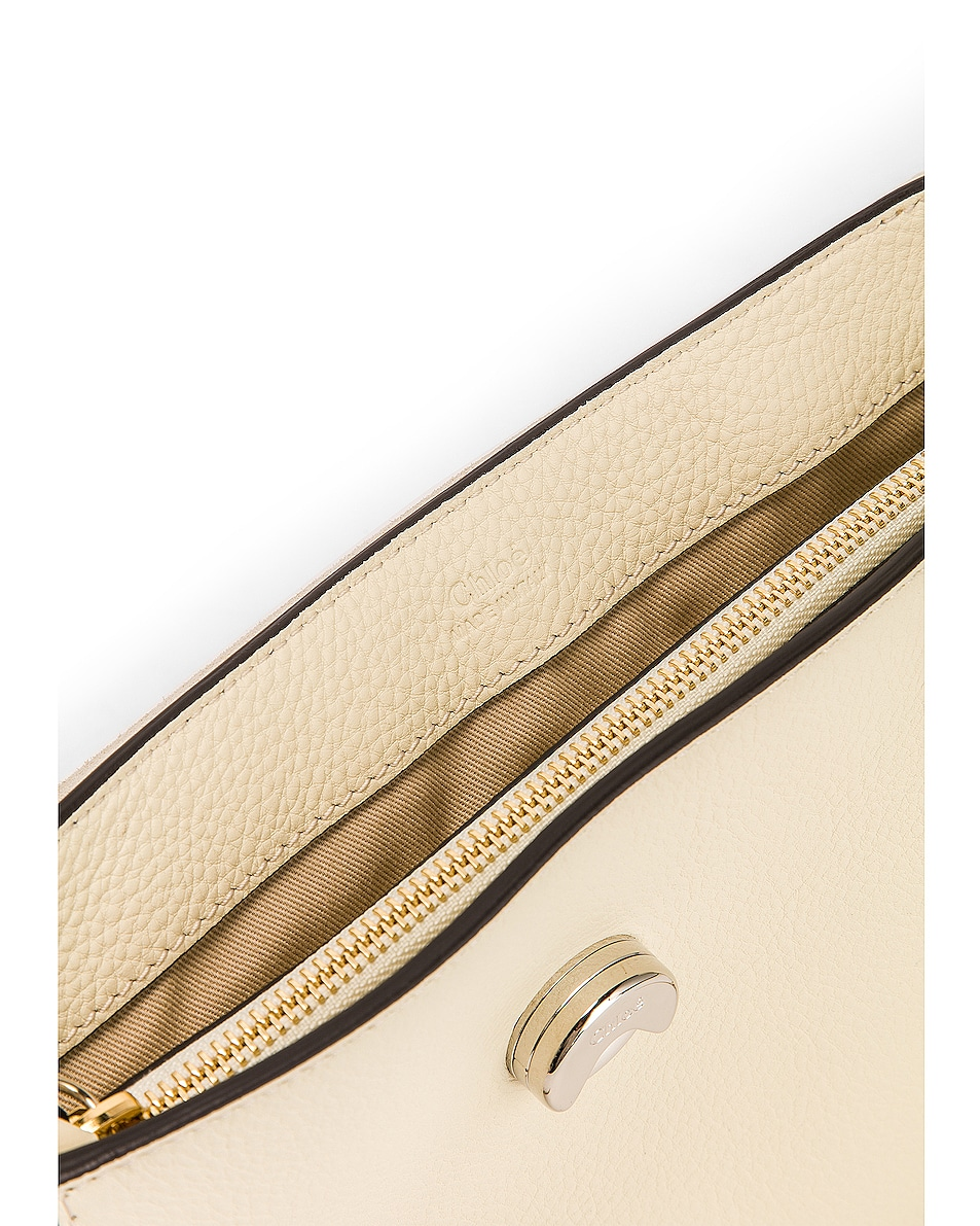 Image 7 of Chloe Small Faye Calfskin & Suede Day Bag in Off White