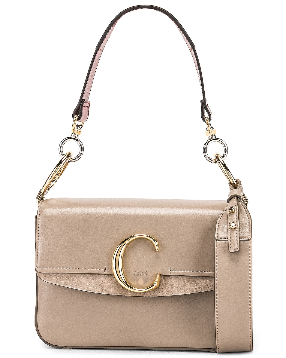 Image 1 of Chloe C Double Carry Bag in Motty Grey