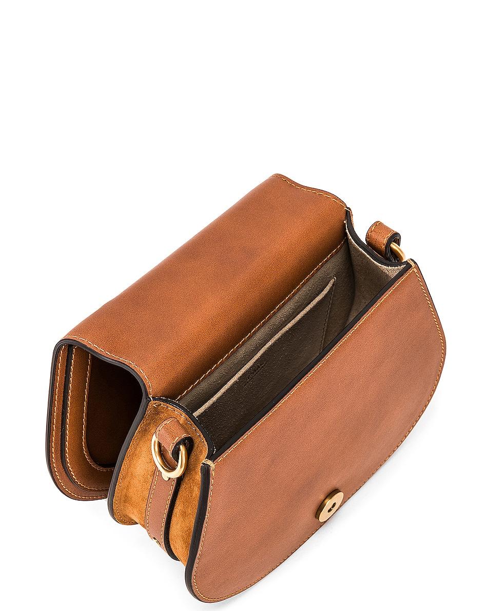 Image 5 of Chloe Small Nile Calfskin & Suede Bracelet Bag in Caramel