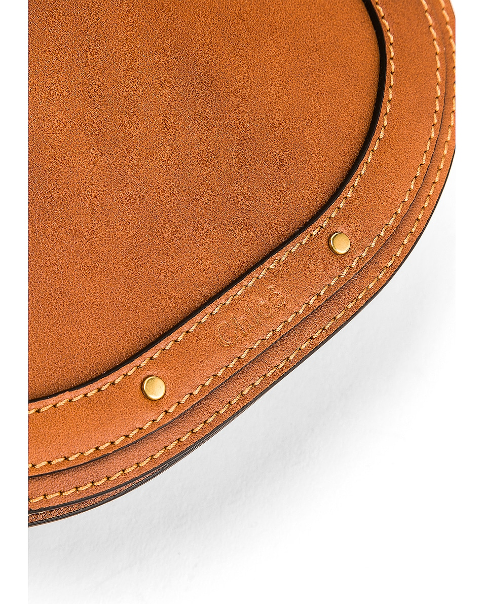 Image 7 of Chloe Small Nile Calfskin & Suede Bracelet Bag in Caramel