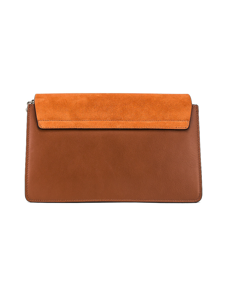 Image 3 of Chloe Small Faye Suede & Calfskin Shoulder Bag in Classic Tobacco