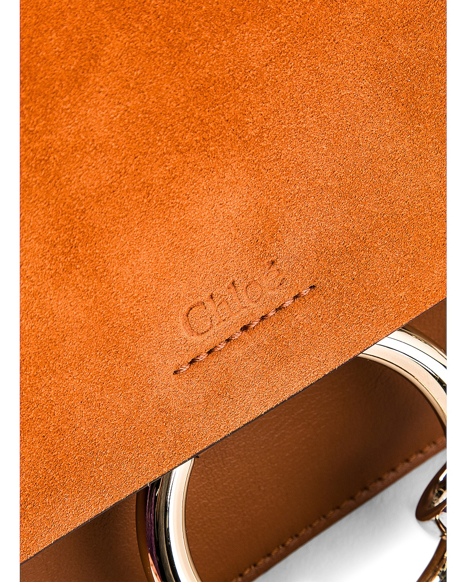 Image 7 of Chloe Small Faye Suede & Calfskin Shoulder Bag in Classic Tobacco