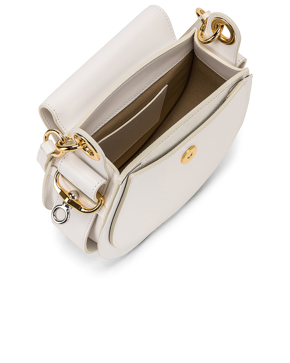Image 5 of Chloe Small Tess Shiny Calfskin Shoulder Bag in Brilliant White