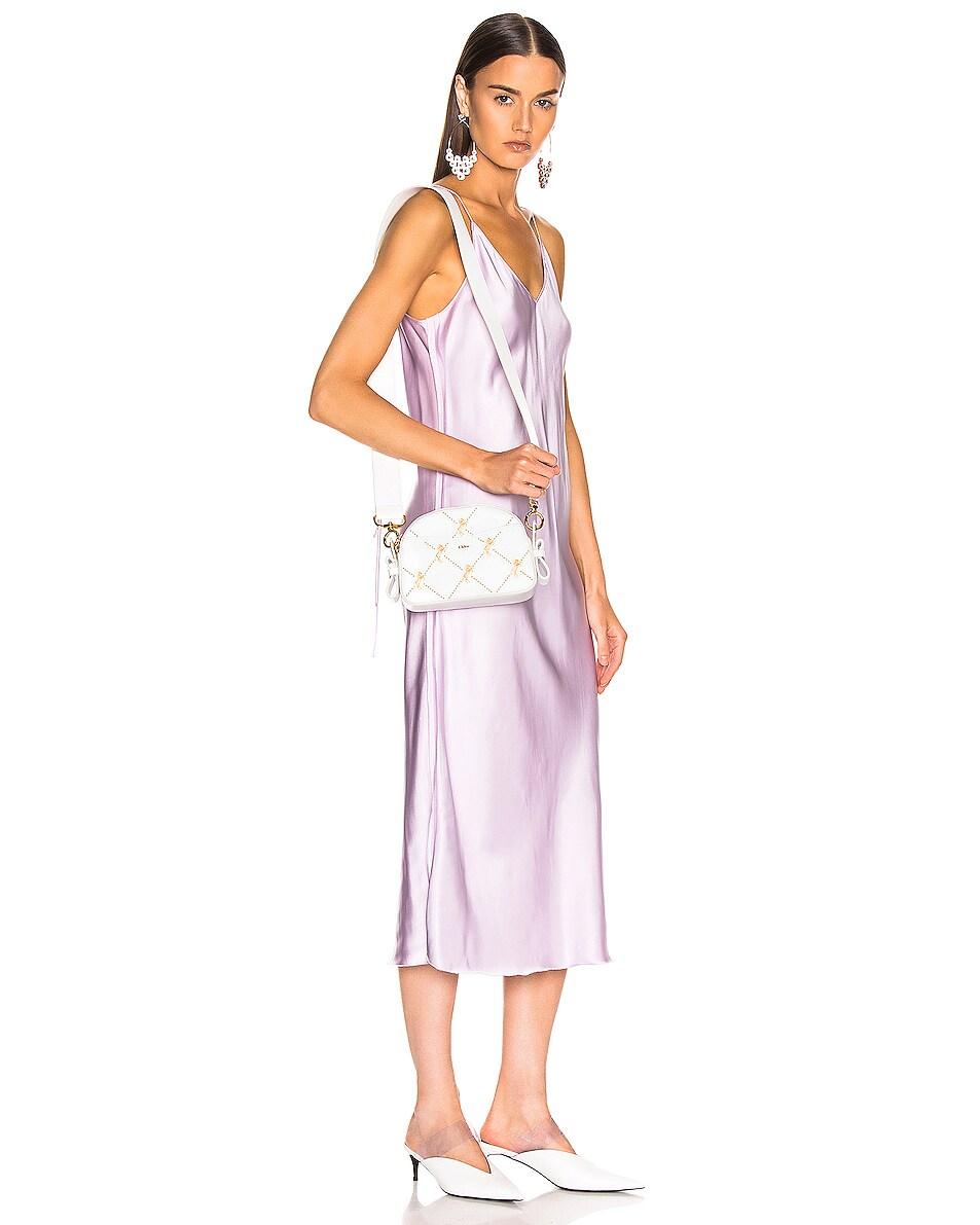 Image 2 of Chloe Mini Signature Embroidered Leather Bag in Brilliant White
