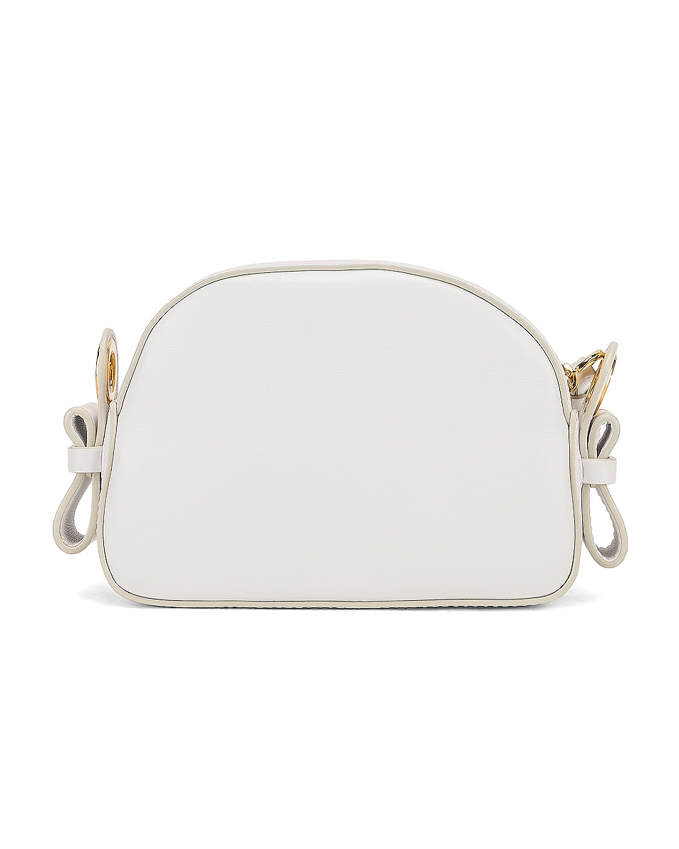 Image 3 of Chloe Mini Signature Embroidered Leather Bag in Brilliant White