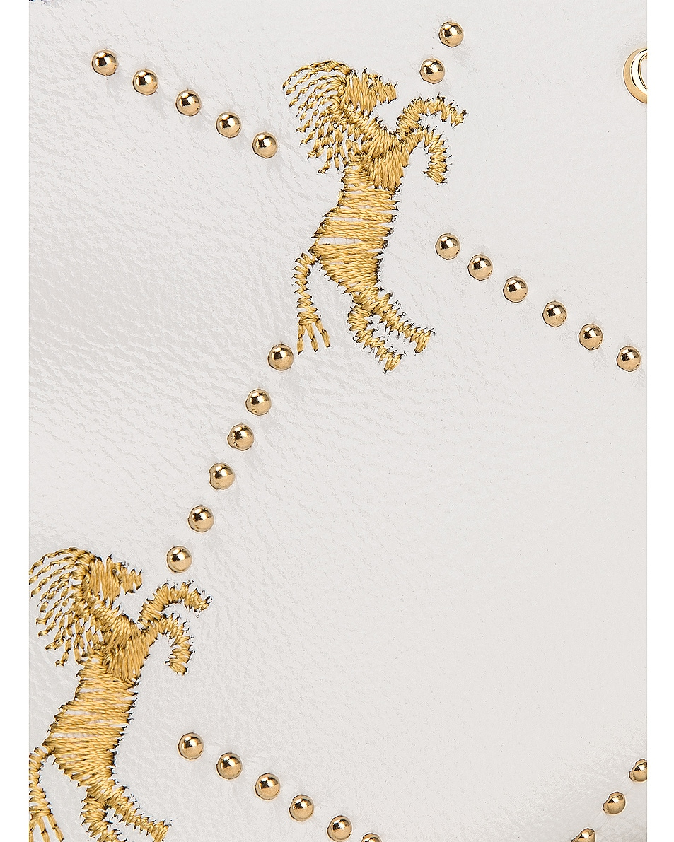 Image 8 of Chloe Mini Signature Embroidered Leather Bag in Brilliant White