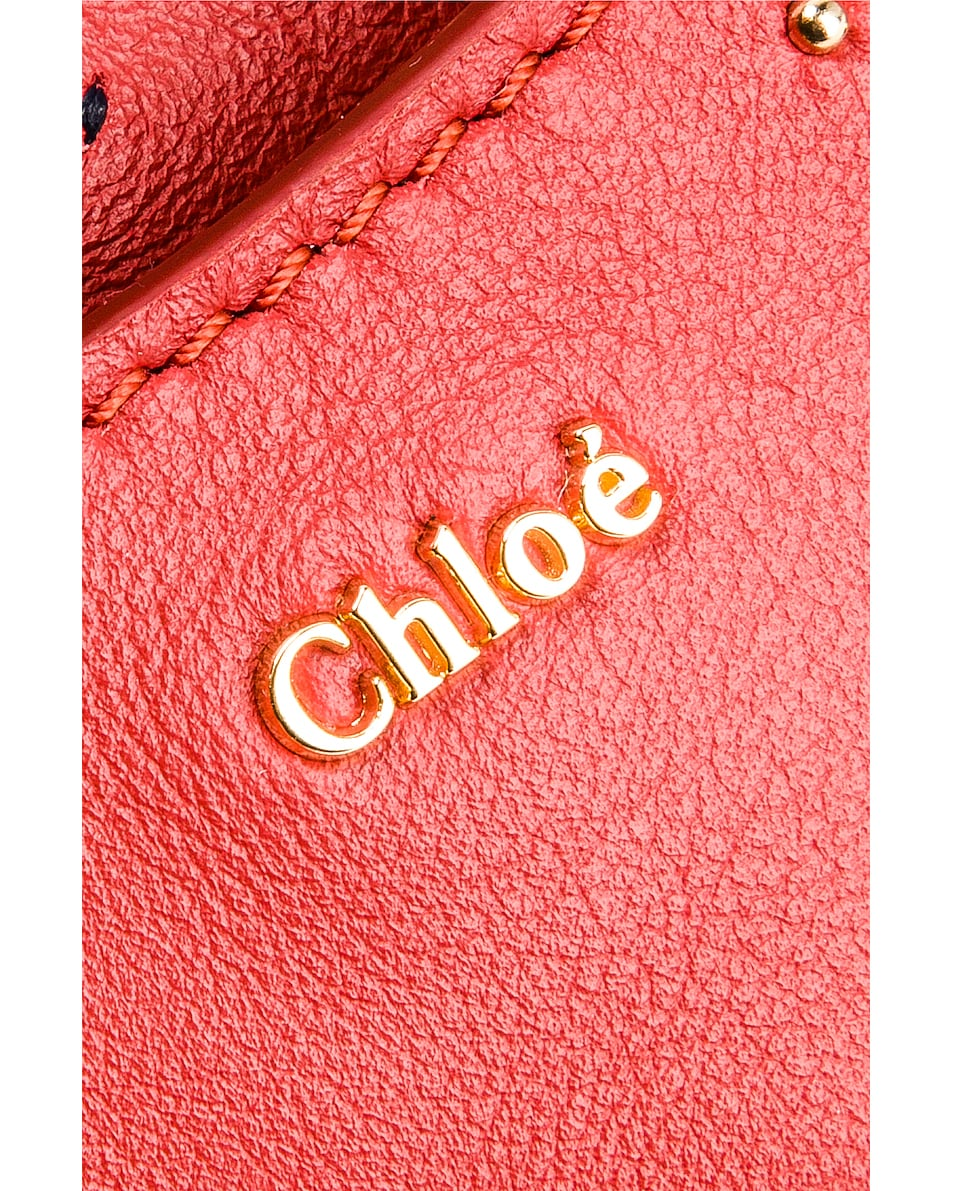 Image 7 of Chloe Mini Signature Embroidered Leather Belt Bag in Earthy Red