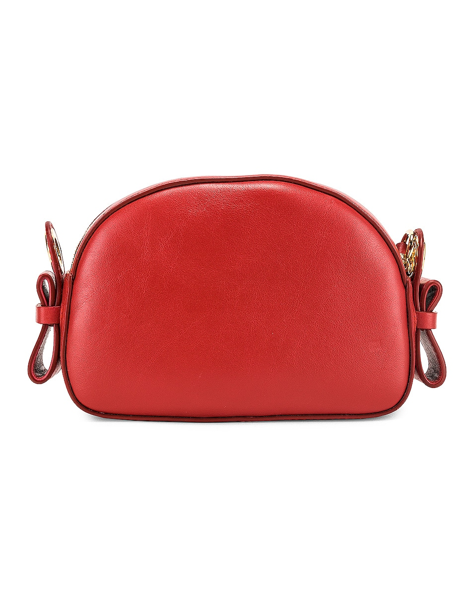Image 3 of Chloe Mini Signature Embroidered Leather Bag in Earthy Red
