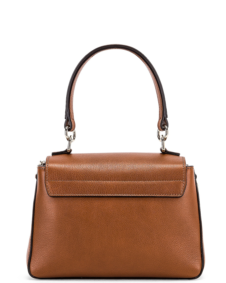 Image 3 of Chloe Mini Faye Calfskin & Suede Day Bag in Tan