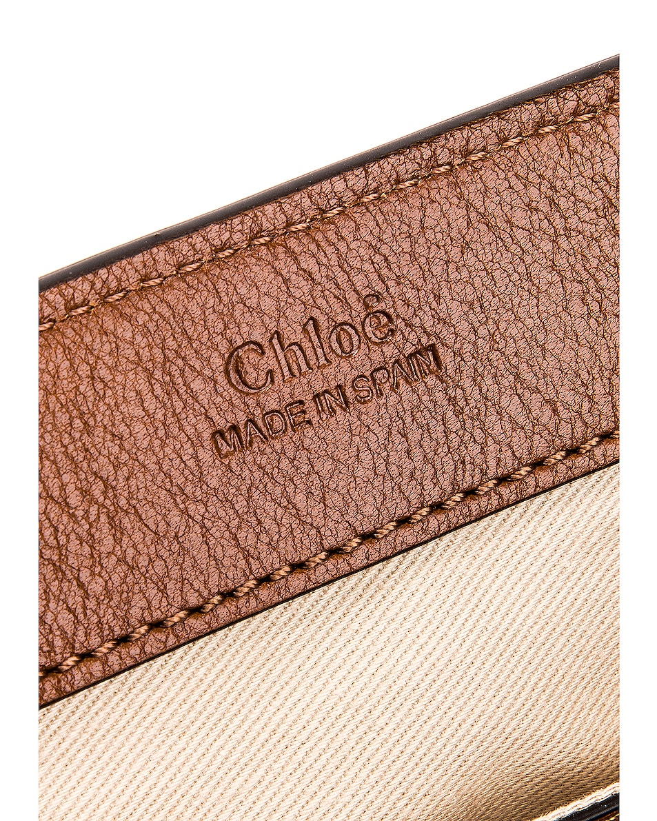 Image 7 of Chloe Mini Faye Calfskin & Suede Day Bag in Tan