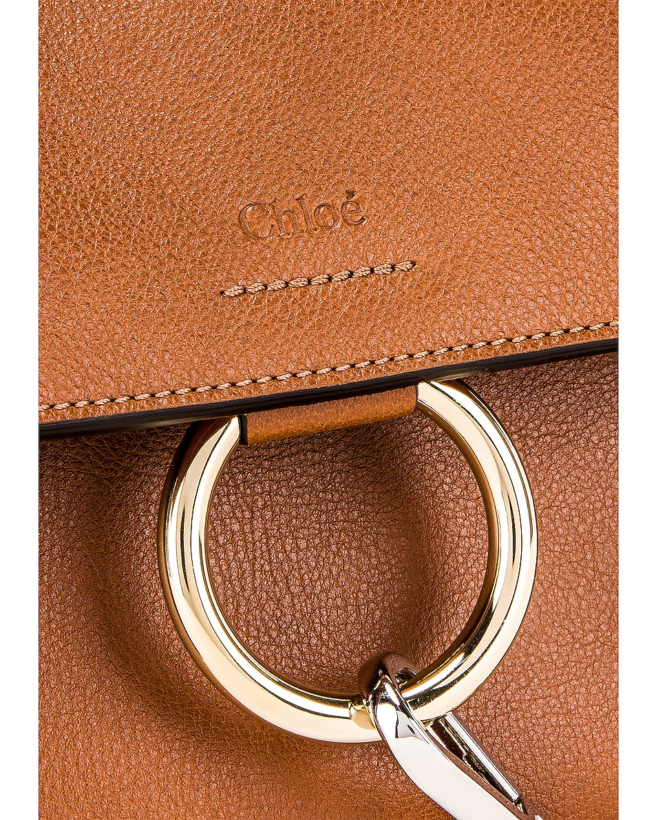 Image 8 of Chloe Mini Faye Calfskin & Suede Day Bag in Tan