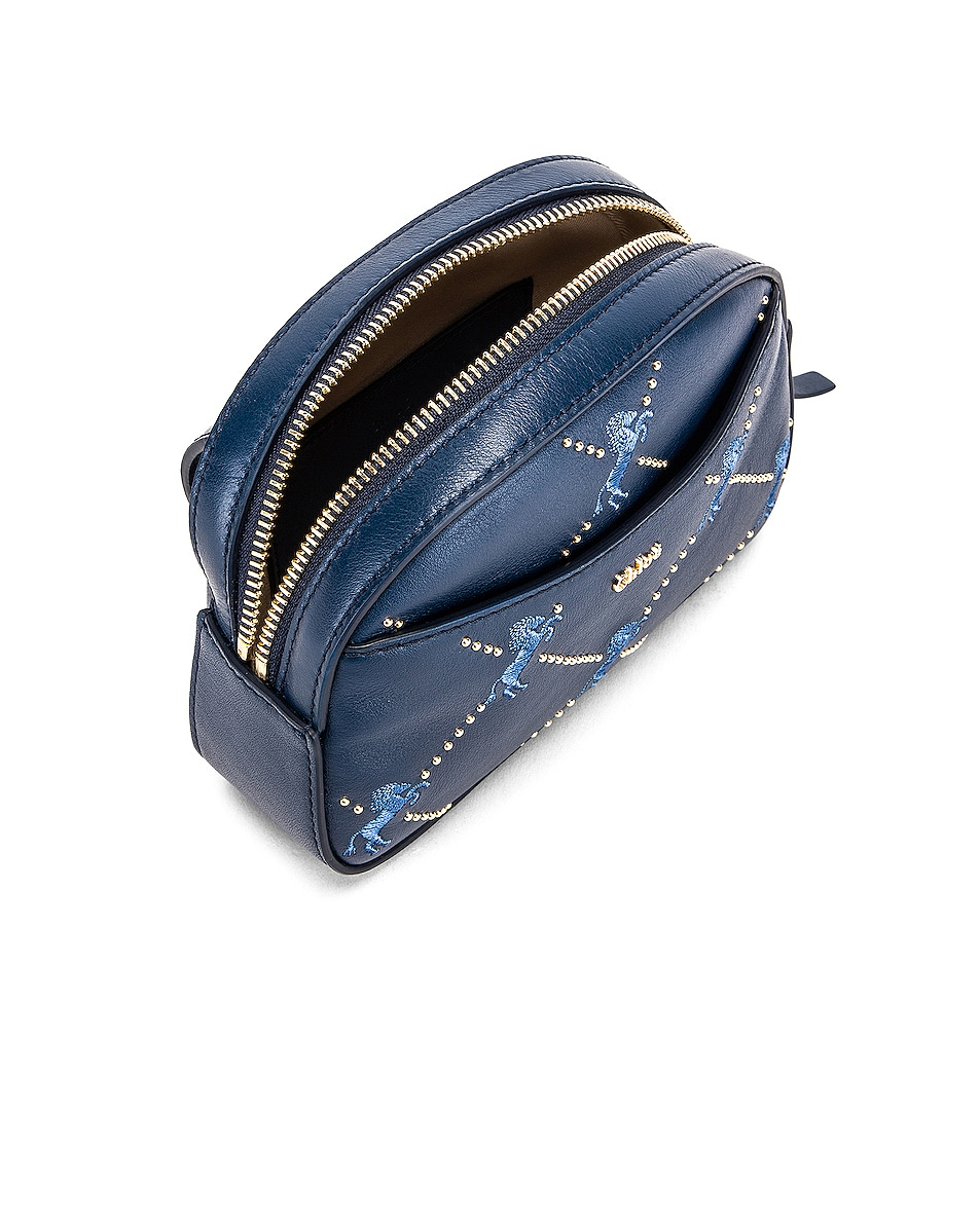 Image 5 of Chloe Signature Embroidered Leather Belt Bag in Eclipse Blue