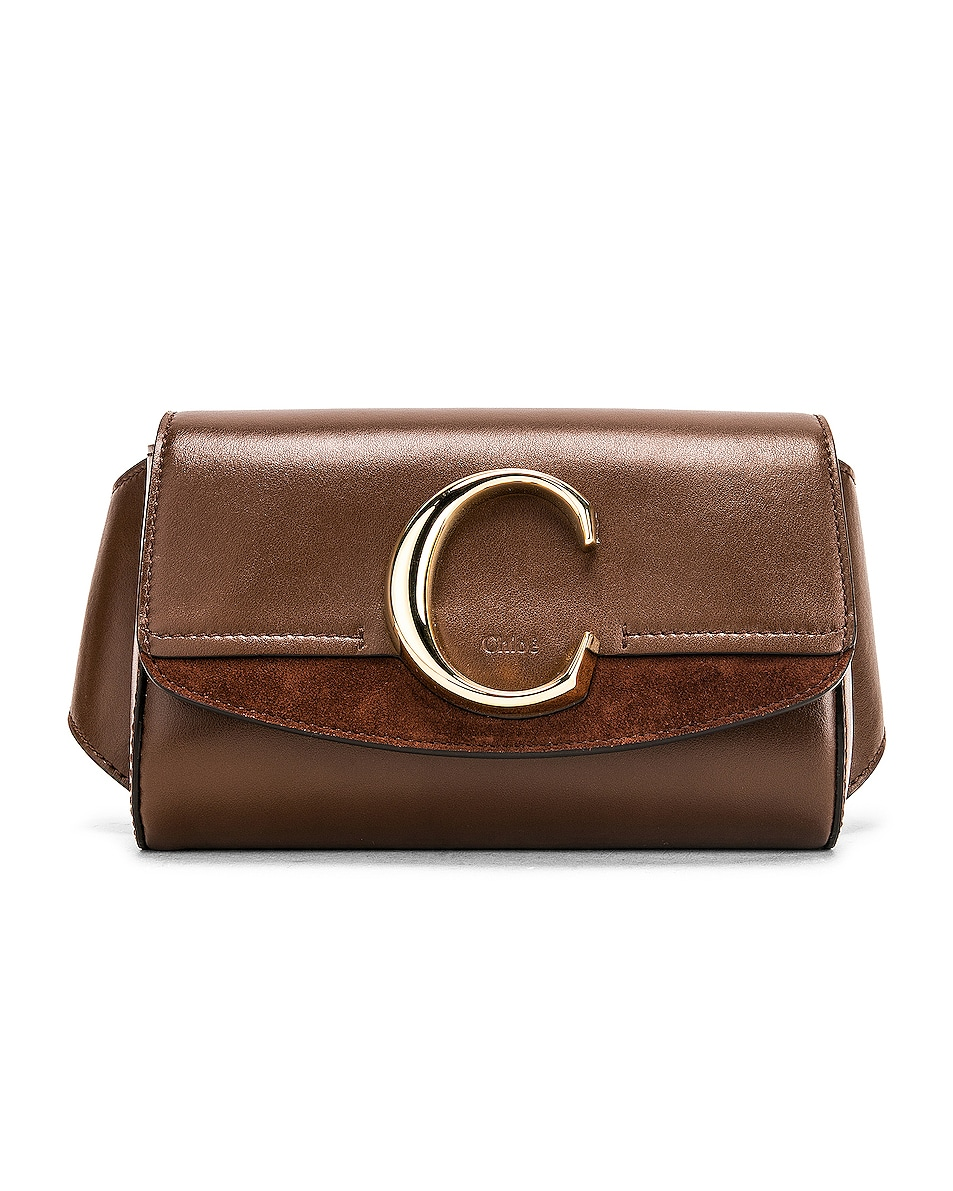Image 1 of Chloe C Belt Bag in Sharp Brown