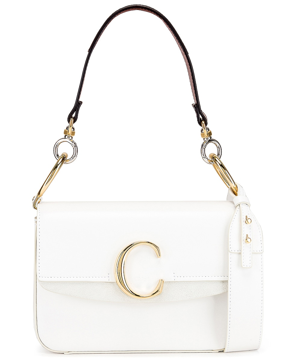 Image 1 of Chloe C Double Carry Bag in Brilliant White