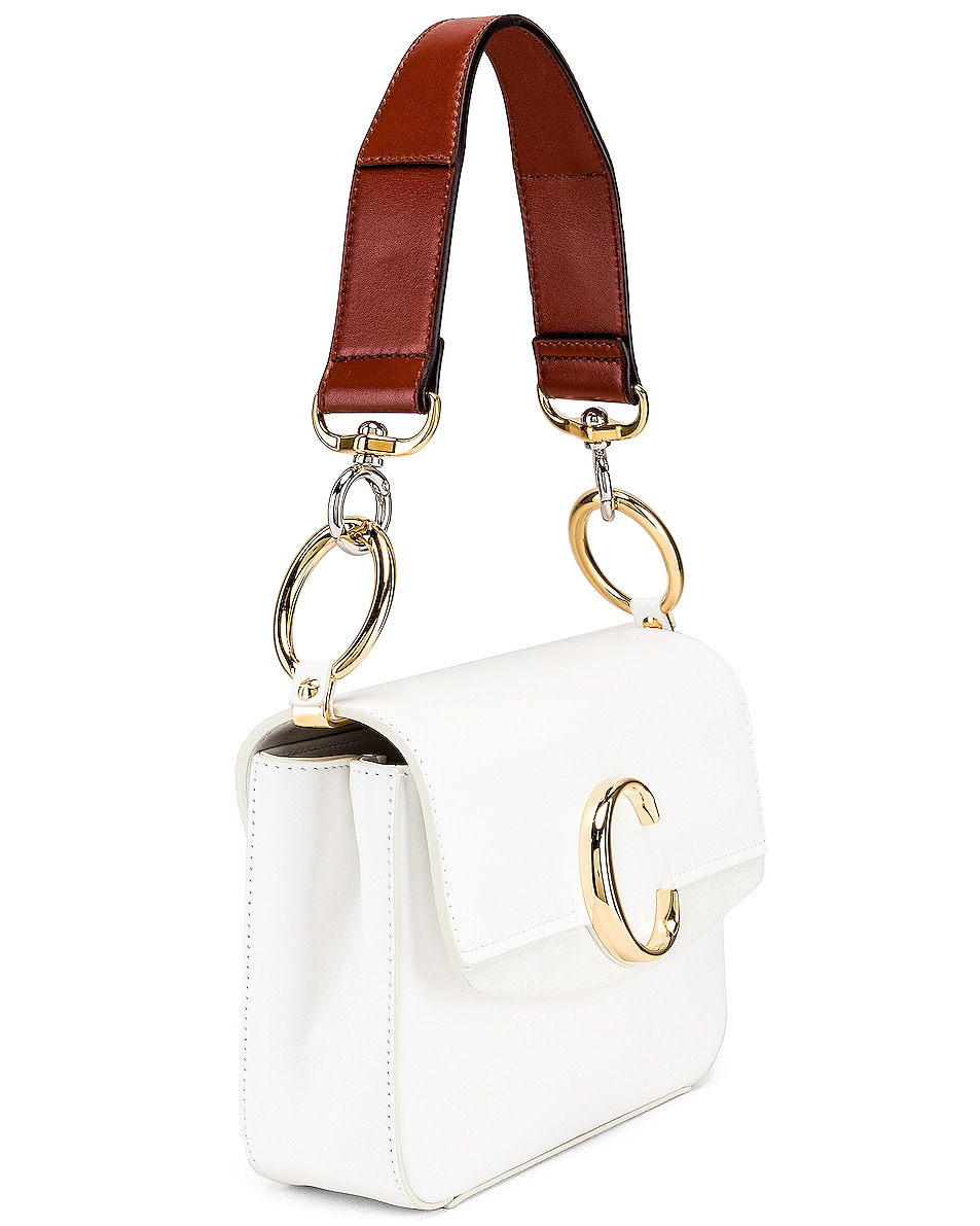 Image 4 of Chloe C Double Carry Bag in Brilliant White
