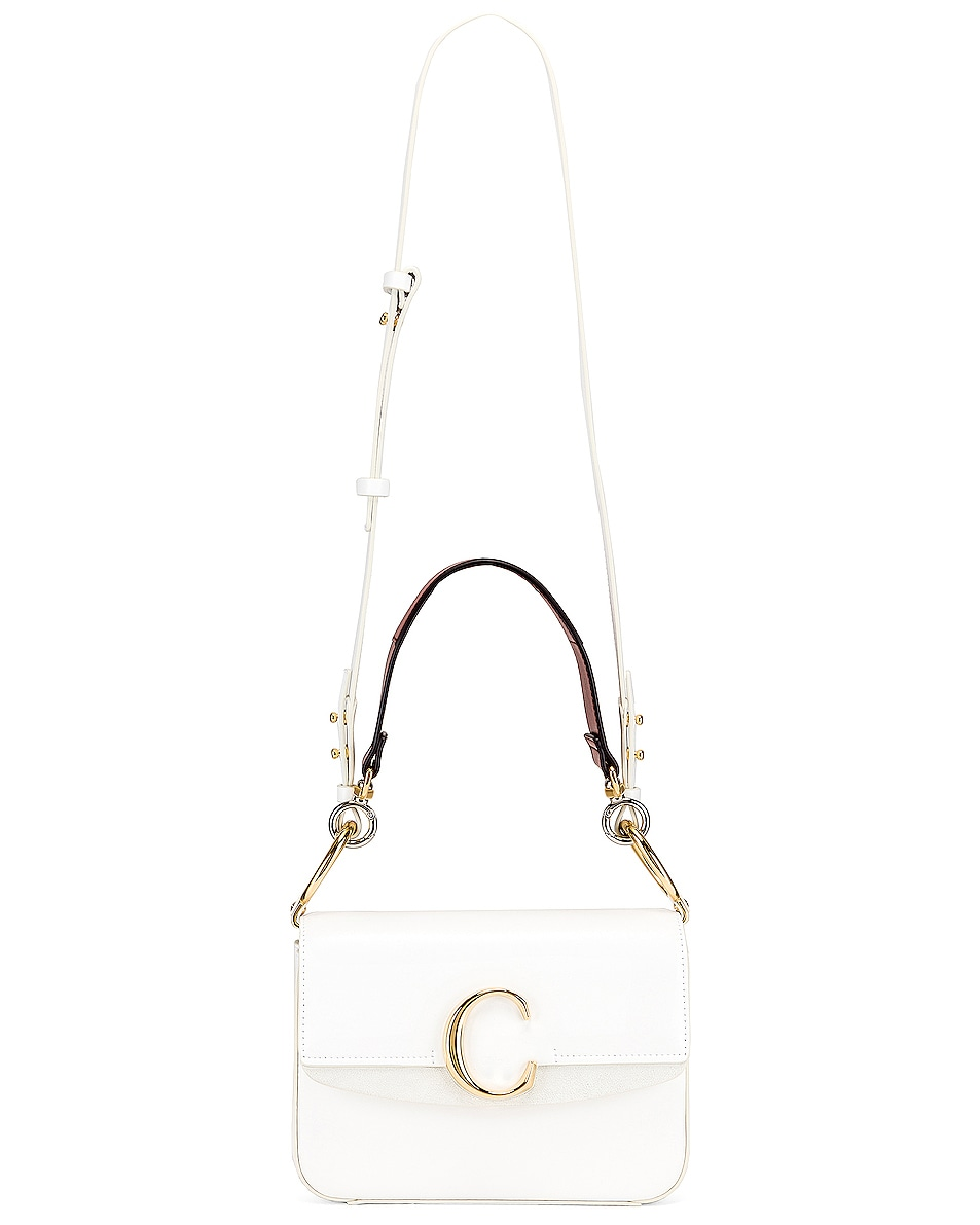 Image 6 of Chloe C Double Carry Bag in Brilliant White
